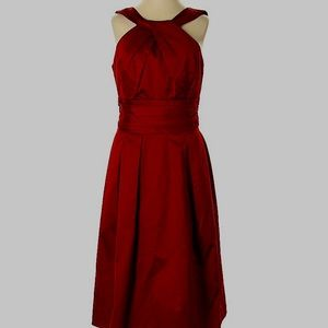 Davids bridal Red cocktail dress (has pockets!)